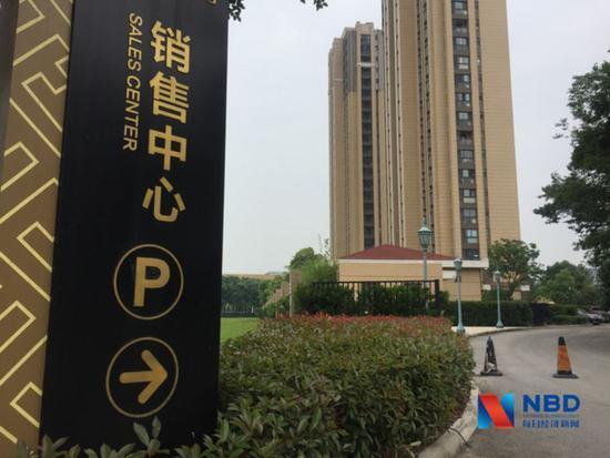 苏州工业园区某售罄楼盘已撤去销售中心 图片来源:每经记者包晶晶摄