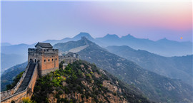 Espléndido atardecer en la Gran Muralla de Jinshanling