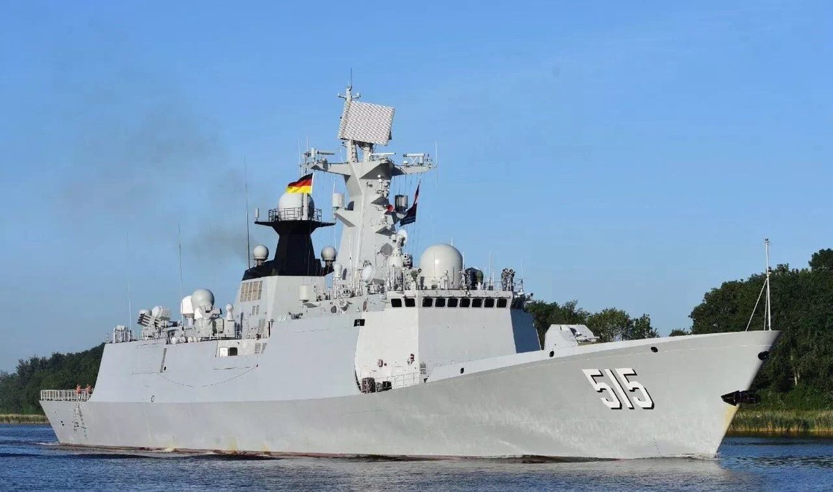 """据介绍,中国海军2016年曾派出湘潭舰参加德国""""基尔周""""活动,此次是中国海军第二次派遣舰艇参加该项活动。"""