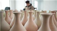 Taller de fabricante de porcelana Ru en Henan de China
