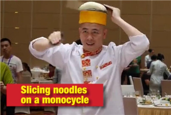 Check fantastic skills of Chinese chefs